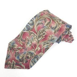 Karl Lagerfeld Silk Tie Maroon Peach Paisley